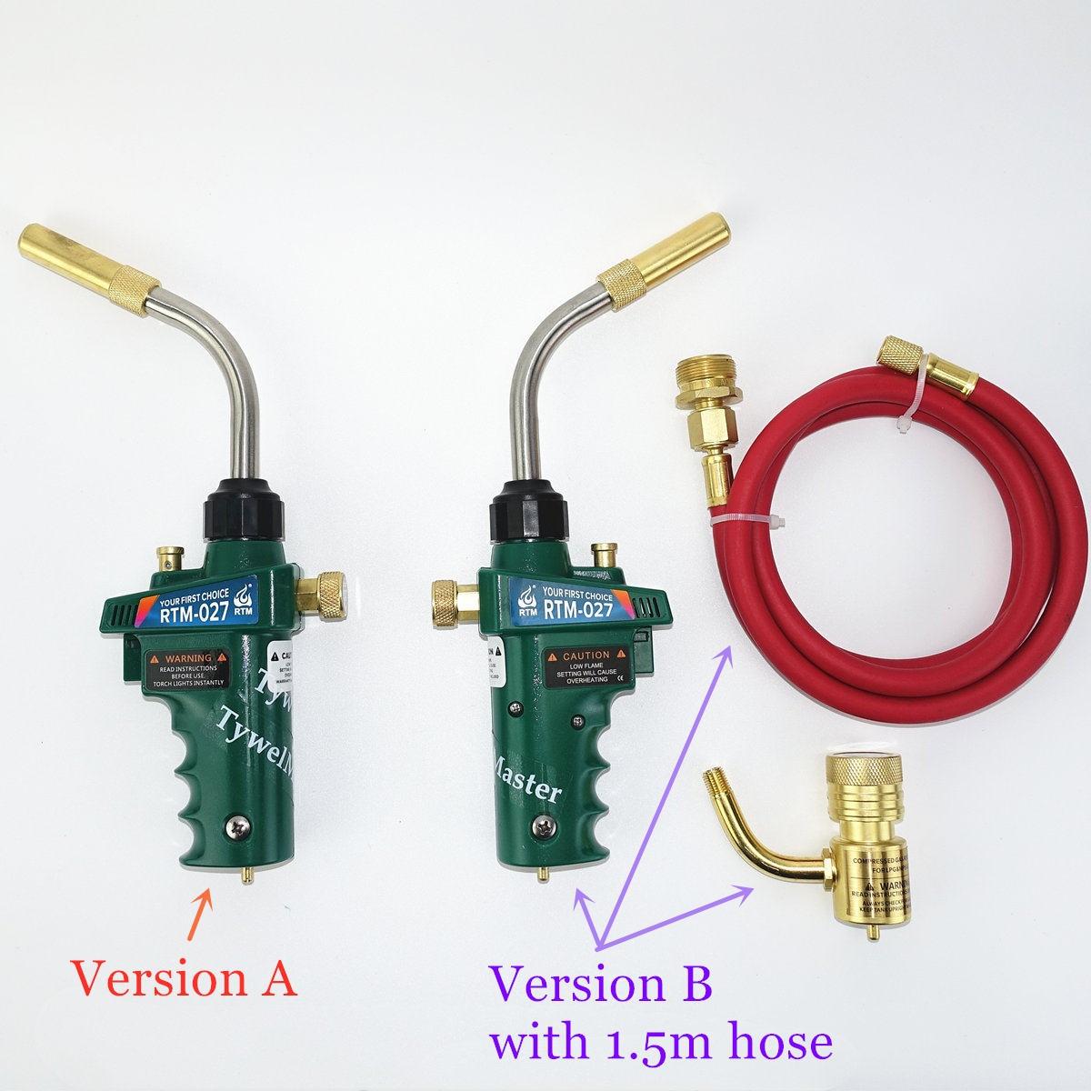 Professional Mapp Torch Piezo Ignition Gas Flame Brazing Tool 1 5m Hose CGA600 BBQ Heating Quenching HVAC Plumbing Welding Torch