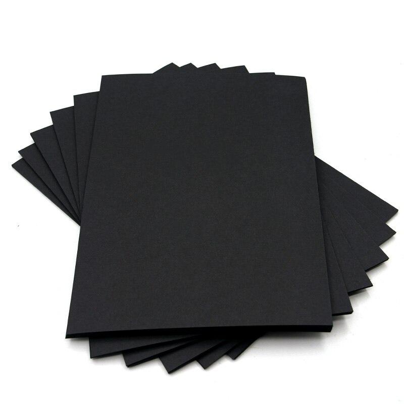 Black Craft Paper Pure Wood Pulp Black Cardboard Paper DIY Upscale Children Handmade Copy Paper Sketch Paper Painting 80g 200g
