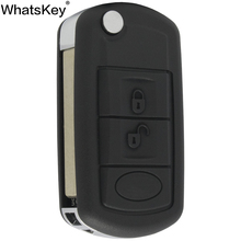 WhatsKey Replacement Flip Folding 3 Buttons Remote Key Case Fob Shell For Land Rover For Range Rover Evoque Discovery Sport LR3 цена 2017