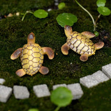 Mini figura de tortuga de mar, figuras de resina, miniaturas de jardín de hadas, accesorios para peceras DIY, paisaje terrario, decoración Artificial