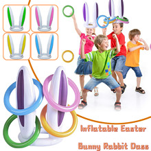Toy Outdoor Hoop Pool Educational-Toys Ring-Toss Quoits Fun-Set Plastic-Ring Garden-Game