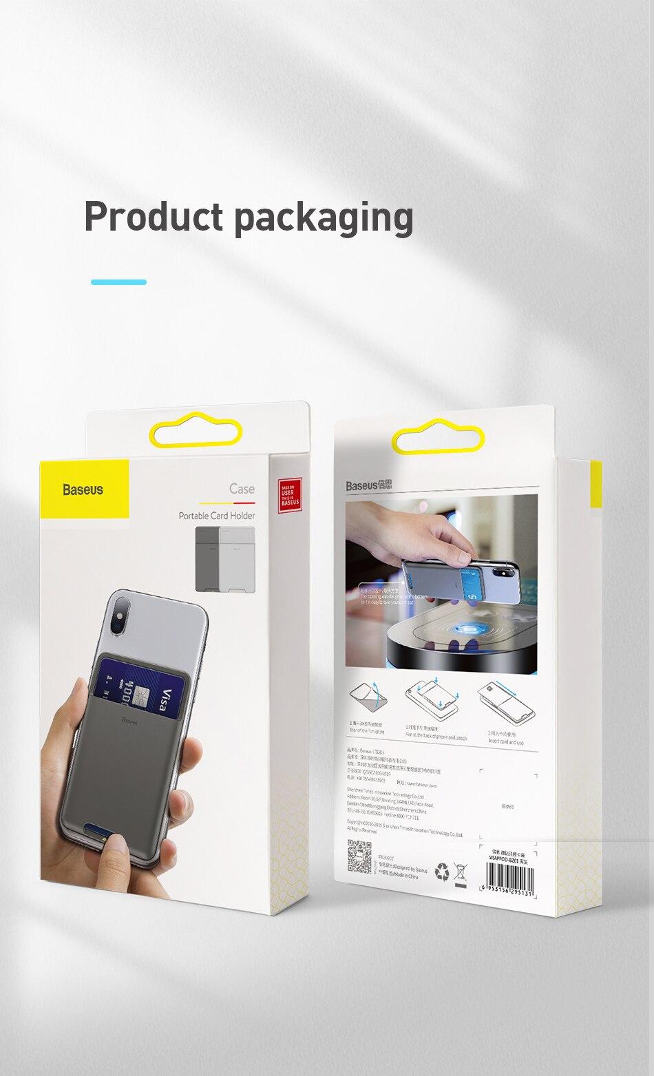 Ốp lưng Baseus Silicone có túi đựng thẻ tín dụng cho Apple iPhone 11Pro X XS Max XR