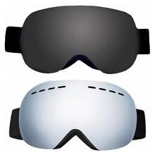 Двухслойные лыжные очки УФ анти-противотуманные защитные очки для катания на коньках очки сферические линзы снежные очки для сноуборда