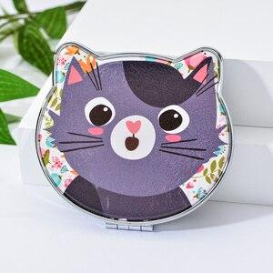Image 5 - Vicney 2019 חדש אופנה חתול אלמנט חמוד קריקטורה כפול צד כיס בנות מיני איפור מראה יופי מראה
