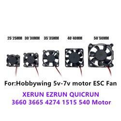 Hobbywing 5 V-7 V 150A DC Motor ESC fan 25/40mm für XERUN EZRUN QUICRUN ESC RC Modell teile jst stecker