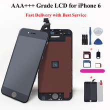 AAA+++ Lcd display for iPhone 6 6G Touch Screen digitizer assembly replacement capacitive screen for Cell Phone ips LCD ecran стоимость
