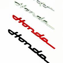Новые серебристые, черные, красные 3D наклейки из АБС-пластика, Стайлинг автомобиля для заднего багажника Honda, значок на крыло, буквы, логотип,...