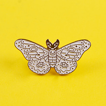 Beautiful White Butterfly Badge Badges for Backpack Enamel Pins for Backpacks Clothes Lapel Pin Badges for Clothes Jewelry Gift leisurely cute cats badges for clothes animal enamel pins for backpacks clothes lapel pin badges for backpack badge jewelry gift