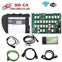 Najlepsza jakość pełne przekaźniki NEC MB SD Connect Compact 4 MB gwiazda C4 oprogramowanie 2020.09 narzędzie diagnostyczne SD C4 z Wifi (12V + 24V)