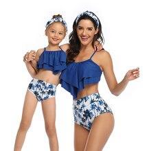 Одинаковые комплекты для семьи 2020 купальный костюм мамы и