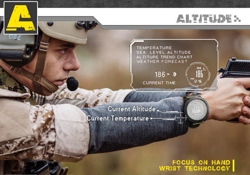 masculino militar bússola altitude barômetro