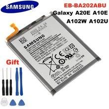 100% bateria original EB-BA202ABU para samsung galaxy a20e SM-A202F/ds SM-A202F 2920/3000mah capacidade total li-polímero akku + ferramentas