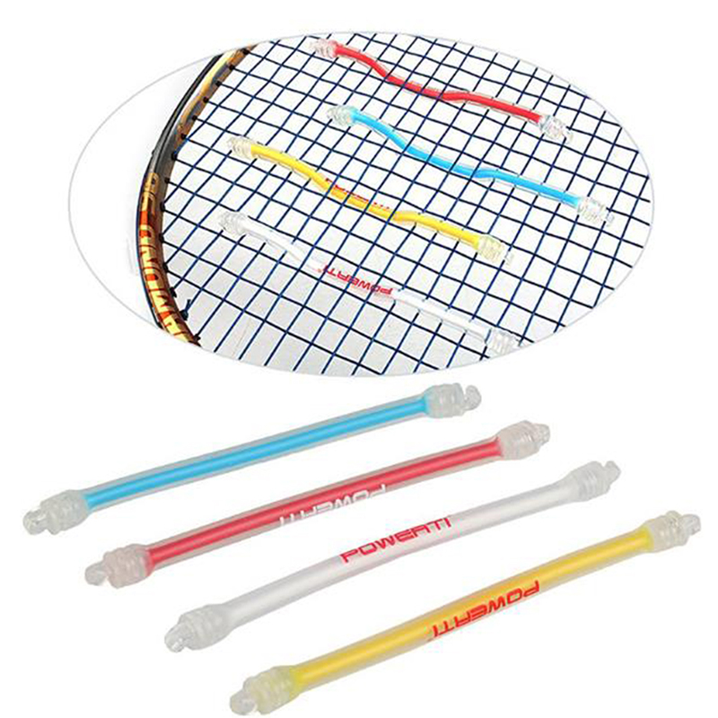 Silicone Tennis Racquet Vibration Absorbing Damper Shock Reducing Tennis Racket Damper Anti-slip Strip Sports Tennis Accessories