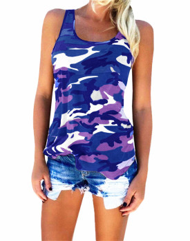 ZOGAA Military Tank Top Womens Casual Camouflage Tank Top Female Sports Casual Sleeveless Vest Plus Size S-5XL 7 Colors Tank Top plus open shoulder camouflage top