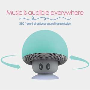 Bluetooth Speakers Mobile-Phone-Rack Waterproof Mini Portable Mushroom-Shape Cartoon