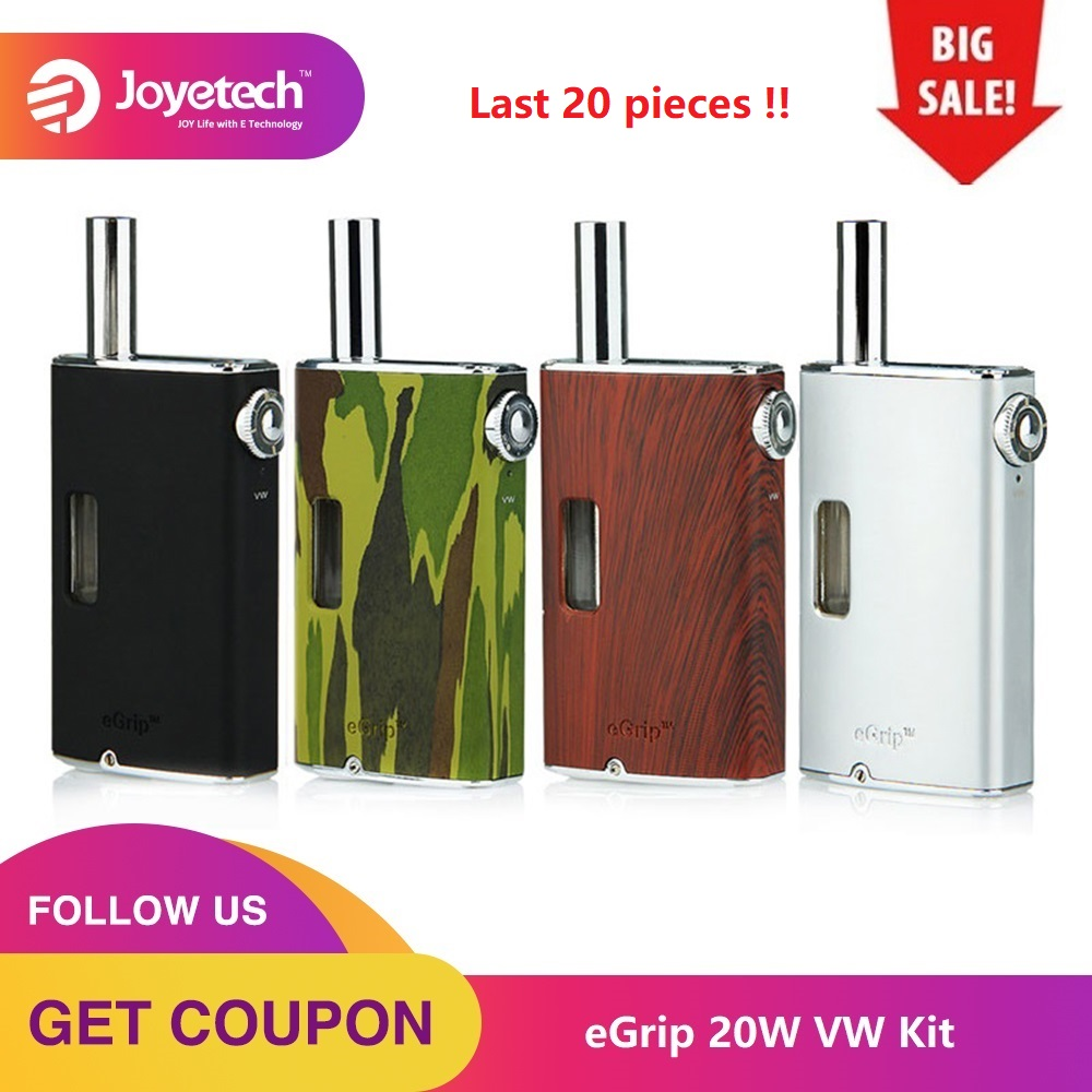 Clearance Joyetech EGrip Airflow Adjustable VW Kit With Atomizer 3.6ml EGrip OLED Built-in 1500mAh Battery E-cig Vs Drag Nano