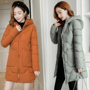 Image 2 - Parka chaud pour femme, manteaux femme, à capuche, en coton chaud, rembourré, ample, nouvelle collection dhiver 2020, 3XL