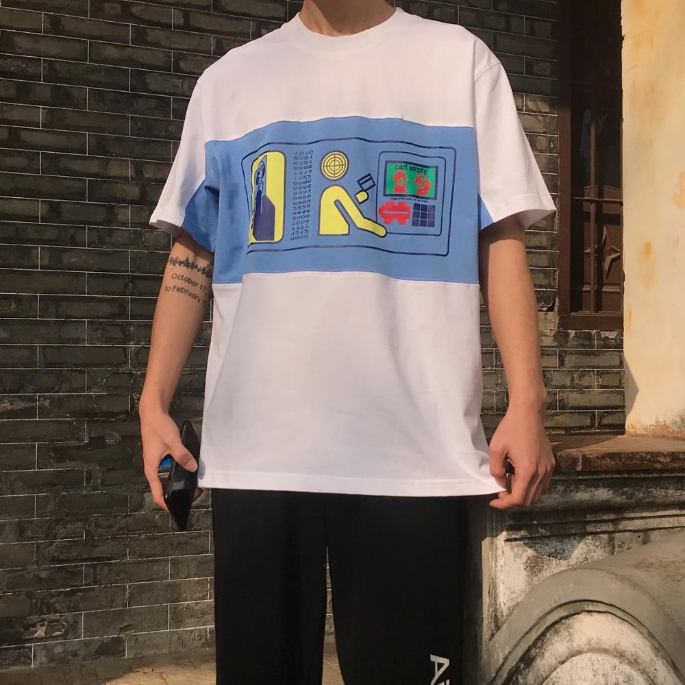 CAVEMPT Tee 2020 New  Japanese Men  Women T-shirts Color Matching Withdraw Pattern Cavempt T-shirt C.E Tops