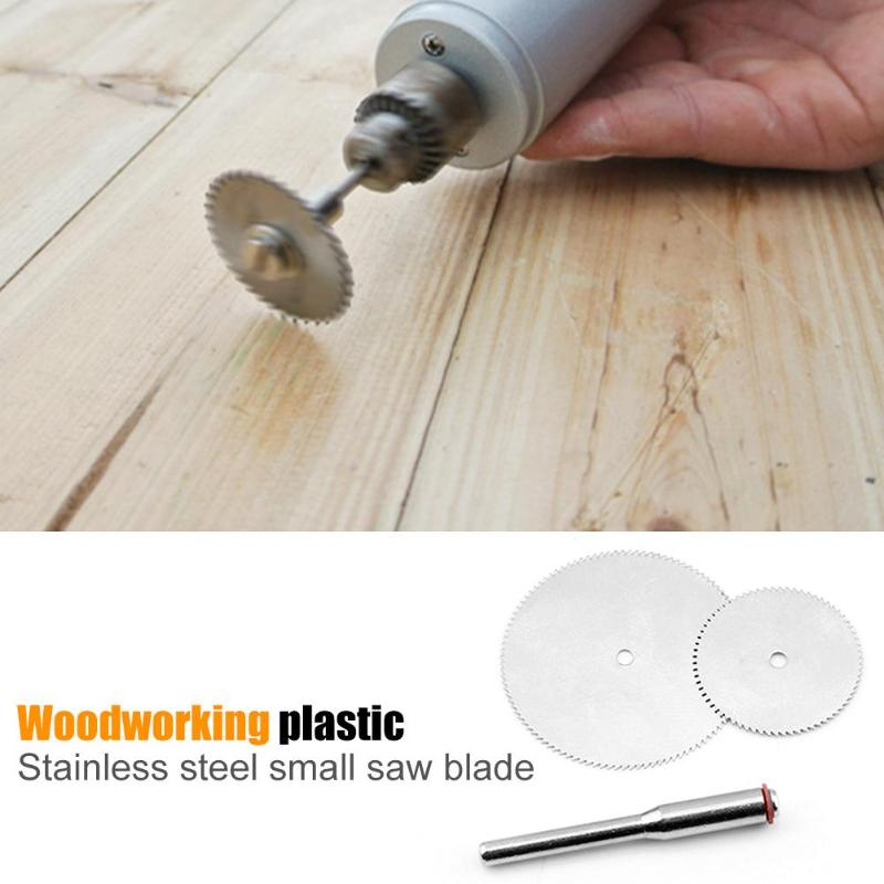 10pcs Stainless Steel Saw Blades Circular Plastic Wood Thin Acrylic Cutting Disc Woodworking Power Tool Accessories