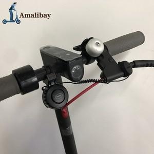 Image 1 - Oplaadbare Scooter Bel 120dB Waterdichte Stuur Hoorn Alarm Voor Xiaom Mijia M365 /M365 Pro Voor Ninebot ES1 ES2 Scooter