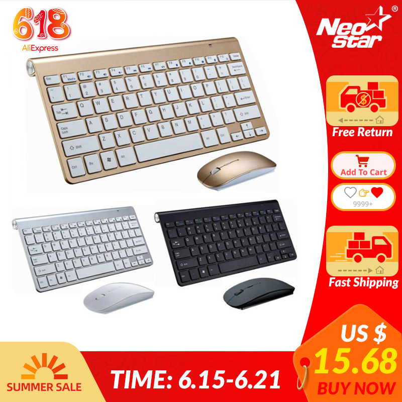 Ultra Slim 2.4G Wireless Keyboard Portable Mouse Mini Set Keyboard for IOS Android For Mac/Notebook/TV Box/PC Office SuppliesKeyboard Mouse Combos   - AliExpress