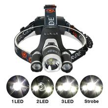 Glare LED Headlamp Aluminum Hunting Camping Fishing Light Alloy Hard Hat Light  Waterproof Rechargeable Flashlight Home Gadgets
