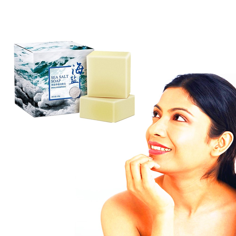 Whitening And Cleaning Facial Bath Cleaning Soap Deep Detergent And Powerful Detergent To Prevent Acne And Sea Salt Soap