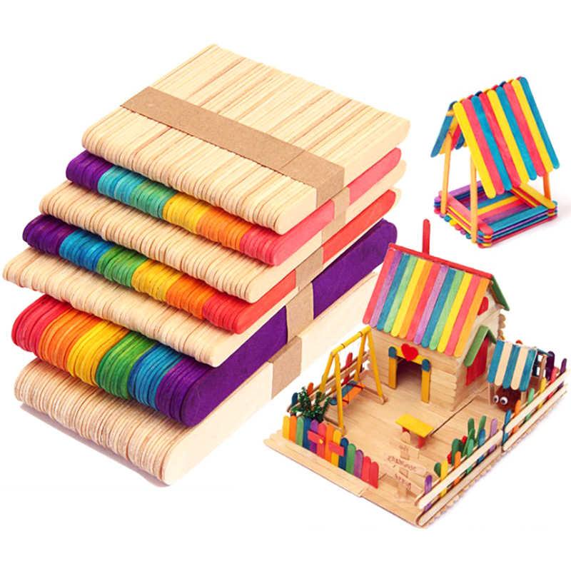 حار 50 قطعة العصي الخشبية لتقوم بها بنفسك المصاصة الآيس كريم العصي لتقوم بها بنفسك الحرفية للشواء صانع كعكة صنع ديكور الحفلات