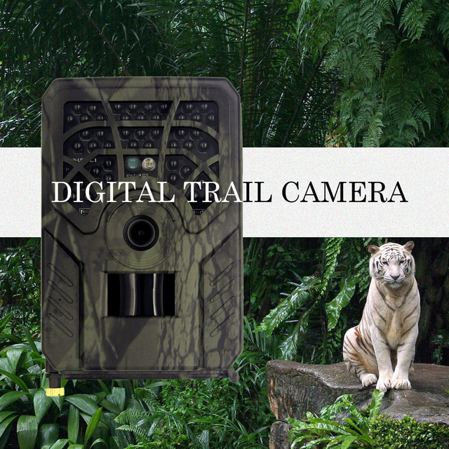 PR-300C Trail Camera No Glow 720P Night Vision Cam with IP54 Battery Powered