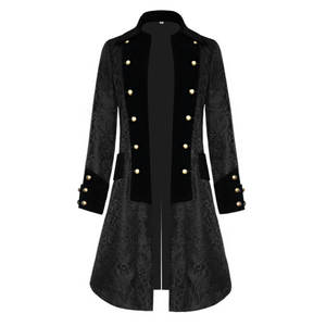 Jacket Cosplay Costume Edwardian Trench-Coat Steampunk Prince Renaissance Frock Men Victoria
