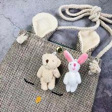 Young girls fresh and lovely cartoon Furry Rabbit bear Brooch DIY clothing, bags, shoes hats decorative accessories badge