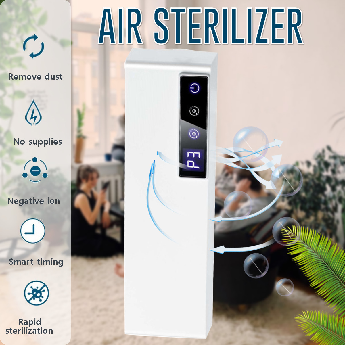 Ozone Disinfection Machine Air Purifier Household Terilization Odor-removal Formaldehyde-removal Negative Ions Air Sterilizer
