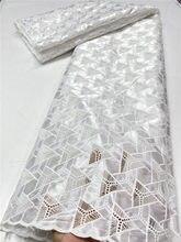 NI.AI – tissu nigérian en dentelle suisse avec trous découpés à la main, pour robe de mariée ou de fête, haute qualité, 3830B