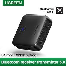 UGREEN Bluetooth 5,0 Empfänger Sender aptX HD CSR8675 für TV Kopfhörer Optische 3,5mm SPDIF Bluetooth AUX Audio Adapter