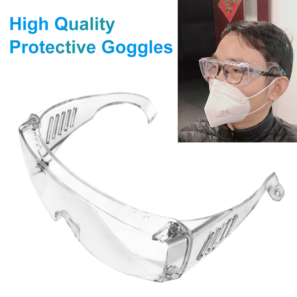 1pair Safe Goggles Anti COVID-19 Virus Goggles Anti Fog Dust Proof Protection Goggles Eyewear For Eyes Protection