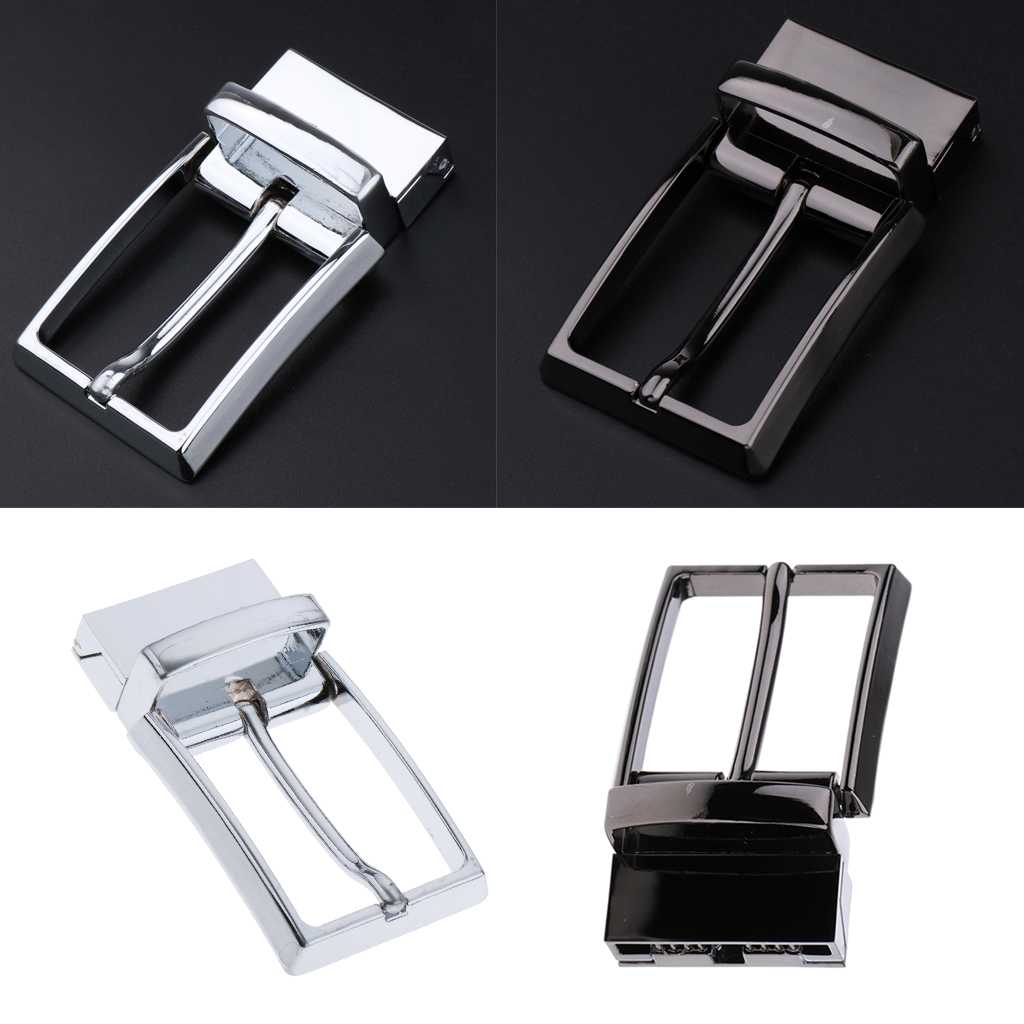 Single Prong Rectangular Pin Belt Buckle Alloy Reversible Belt Buckle Replacement Fit For 33mm/1.3 Inch Strap Belt Accessory