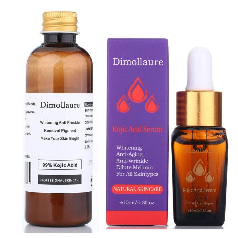 Dimollaure 30 г отбеливающий крем из чистой кожевой кислоты + Сыворотка от морщин, веснушек, меласов, акне, рубцов, пигментов, меланина