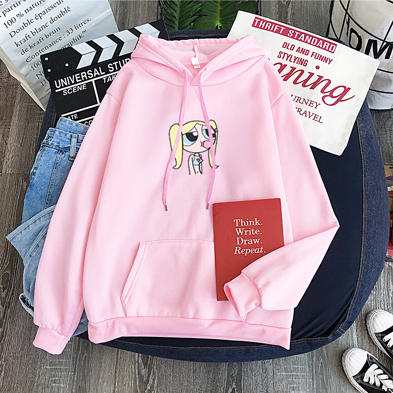 Bellota Las Chicas Superpoderosas Pullover Long Sleeve Casual Unisex Sweatshirt Hoodie Harajuku Hip Hop Leisure Sweatshirt