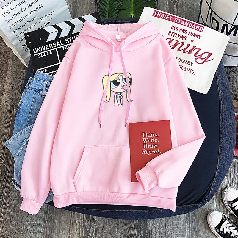 Bellota Las Chicas Superpoderosas Pullover Long Sleeve Casual Unisex Sweatshirt Hoodie Harajuku Hip Hop Leisure Sweatshirt