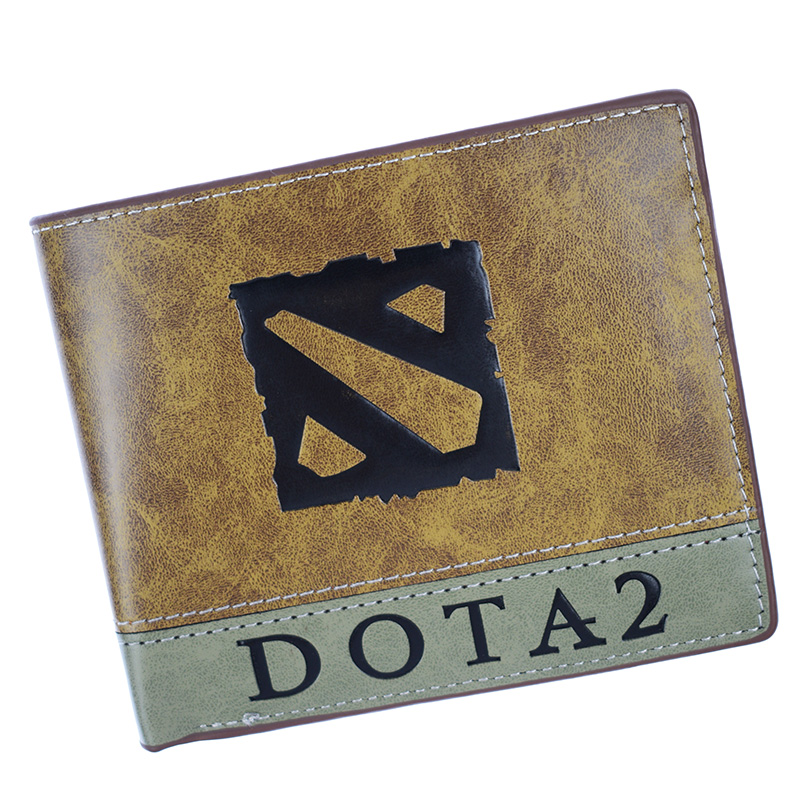 Hot Sell Short Purse Dota 2 /Yu Gi Oh Wallet High Quality Men's Purse With Coin Pocket