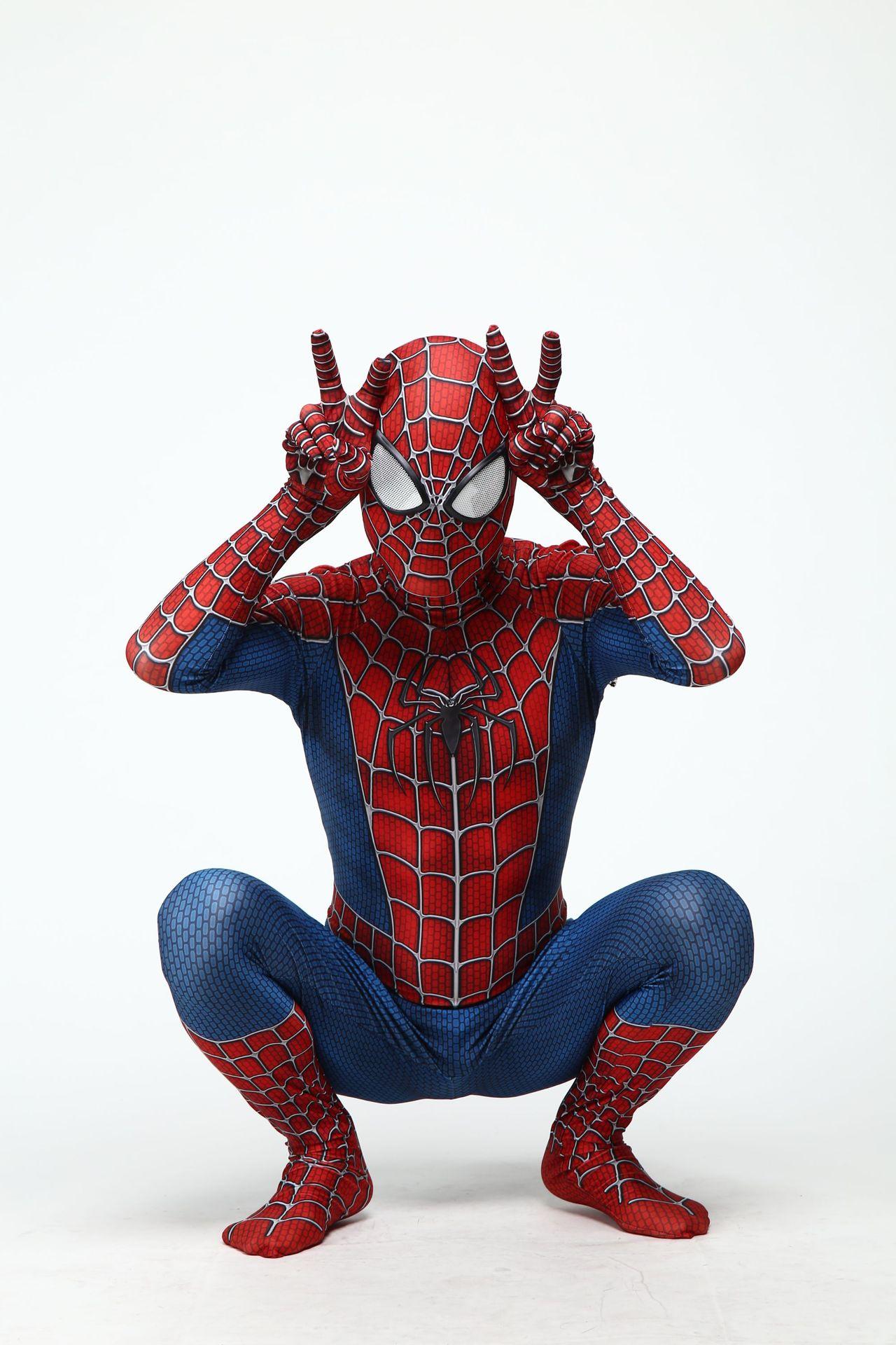 Adult Kids Spider Man 3 Raimi Spiderman Cosplay Costume 3D Print Spandex Zentai Superhero Bodysuit Suit Jumpsuits