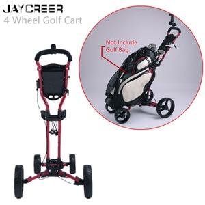 Image 1 - JayCreer chariot de Golf Portable pliable avec 4 roues, couleur noire, couleur aléatoire