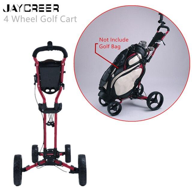 JayCreer chariot de Golf Portable pliable avec 4 roues, couleur noire, couleur aléatoire