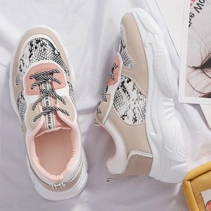 2019 Spring Autumn Women's Running Shoes Fashion Comfortable Platform Shoes Women's Sneakers Feminino Zapatos Mujer Y1-57