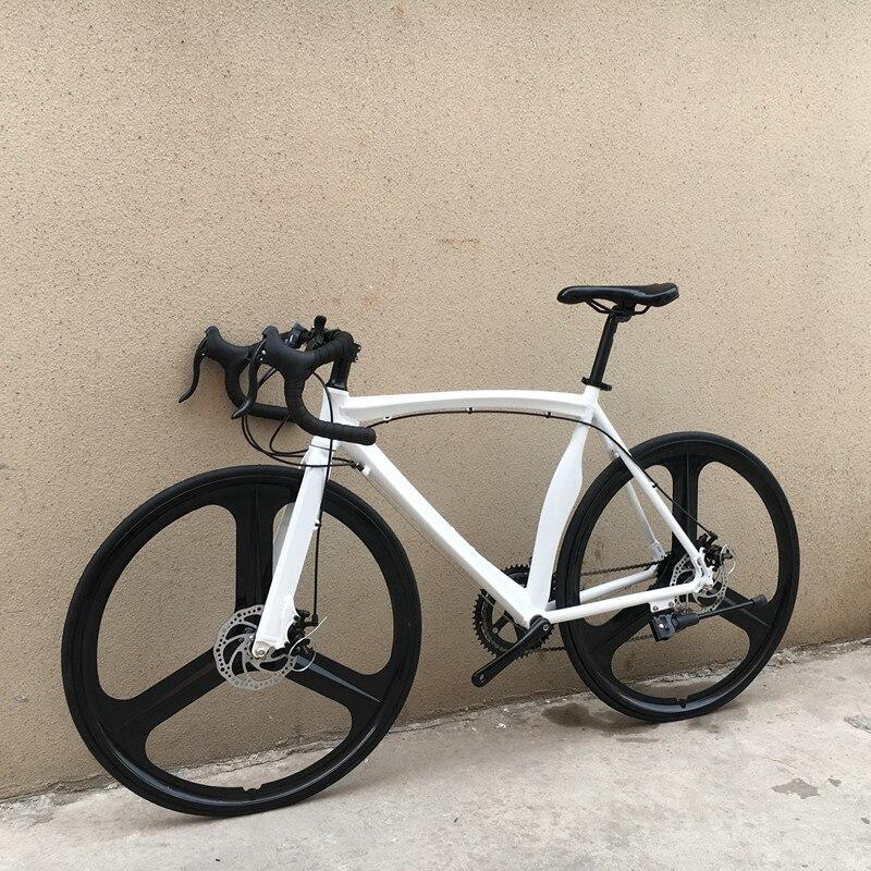 16 скоростей 700C, рама из алюминиевого сплава, дорожный велосипед, двойной дисковый тормоз, студенческий городской велосипед, изогнутый или п...