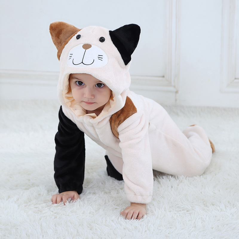 Baby Jumpsuit cat Winter   Rompers   2019 Overall baby girl boy Clothes Halloween Cute Animal Hooded Costume macacao Bebe