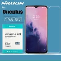 Oneplus 7T 7 6T 6 5T Gehärtetem Glas Schutz Nillkin 9H Fest Klar Sicherheit Glas Bildschirm protector für One Plus 7T 7 6T 6 5T