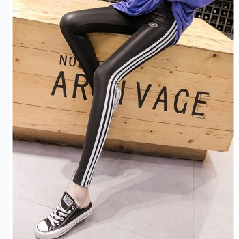 JUJULAND PU High-waisted elastic leggings Black autumn winter new fashion fitting skinny leggings 9617 10pcs the new high elastic madden aluminium metal freestyle stunt scooter wheels black pu black aluminum 100x24mm 88a page 4