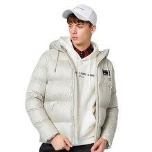 סמיר חדש אופנה חורף מעיל גברים חם מעיל מעיל Mens מעיילי מעילי גברים של מעיל רוכסן ברדס צווארון מעיל