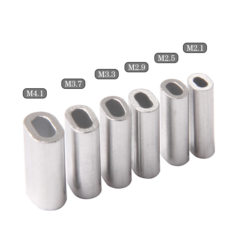 100 шт., алюминиевые плоские рыболовные трубки